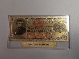 24K Gold Banknote
