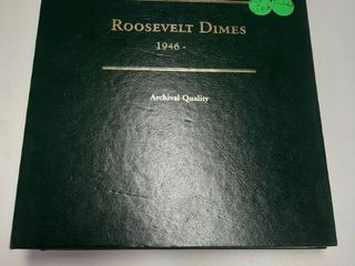 Roosevelt Dime Book   Proof Dimes  Some are Silver