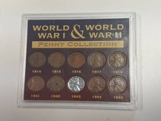 WWI and WWII Penny Collection