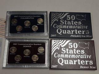 2007 Commemorative Quarters   Philadelphia and Denver Mint