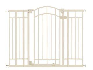 Summer Multi Use Deco Extra Tall Walk Thru Gate  Beige  28 5   48 Inch