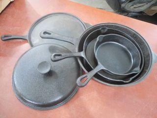 5 Pc  Pre Seasoned Cast Iron Cookware Set