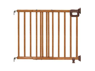 Summer Deluxe Stairway Simple to Secure Wood Gate  30 48 Inch Wide
