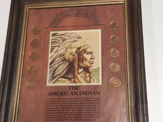 Frame with 10 Indian Head Pennies