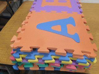 Multi Color 12 in  x 12 in  x 0 43 in  ABC Playroom Floor  26 Pack