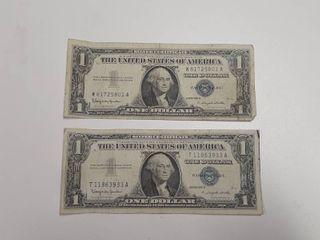 2  Series 1957B Silver Certificate