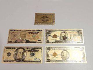 4  Gold Banknotes
