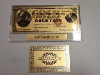 24 K Gold Banknote