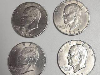 4  Eisenhower Dollars   1971 D  1972  1976  1977 D