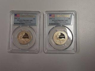 2  2017 S Proof Sacagawea Dollar   PR69
