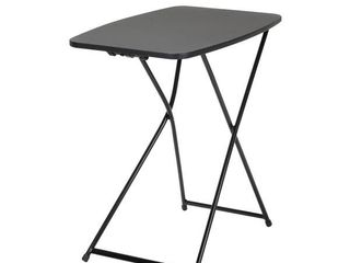 COSCO Indoor Outdoor Adjustable Height 18  x 26  Personal Folding Tailgate Table