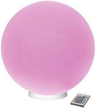Modern Home Deluxe Floating 10  lED Glowing Sphere w Infrared Remote Control