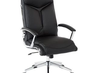 Work Smart Executive Faux leather High Back Chair