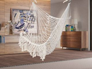 35  Cotton Hanging Rope Air Sky Chair Swing