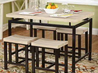 Delano Dining Table w  Set of 4 18  Stools