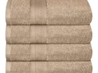 Feather Touch   Pure Cotton 4 Piece Bath Towel Set