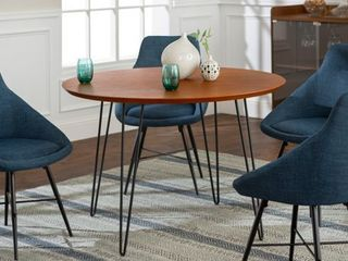 Carson Carrington Charlottenberg Dining Table Only  Walnut  Blue