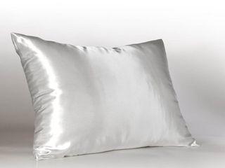 Sweet Dreams Silky Satin Pillow Case w  Hidden Zipper   Set of 2   Standard