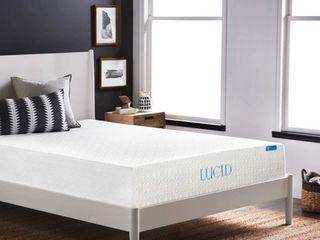 lUCID Comfort Collection 10  luxury Gel Memory Foam Mattress   Cali King