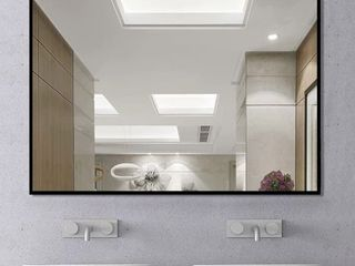 Modern large Black Rectangle Wall Mirror for Bathroom Vanity Mirror