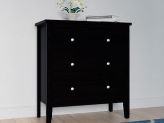 Copper Grove Petun Black Wood 3 Drawer Chest of Drawers