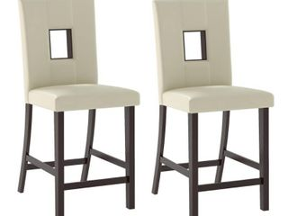 Bistro leatherette Counter Height Dining Chair   Set of 2