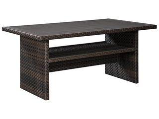 Easy Isle Dark Outdoor Brown Rectangular Table