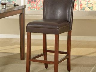 29  luxury Brown Faux leather Barstools   Set of 2
