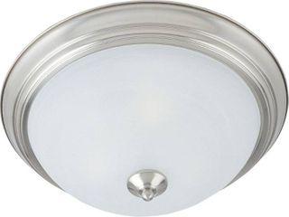 Maxim Marble Shade 3 light Nickel Essentials 584x Flush Mount light