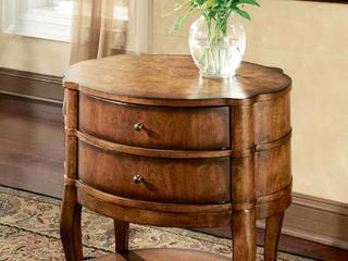 Handmade Butler Jarvis Umber Oval End Table