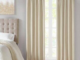 84 x50  lillian Twist Tab Total Blackout Window Curtain Cream
