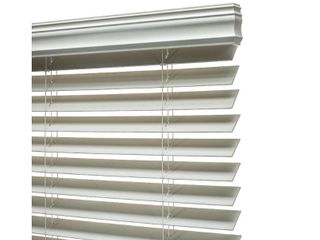 Porch   Den Jex Smooth Snow White Fauxwood Cordless 2 inch Blinds Retail 149 49