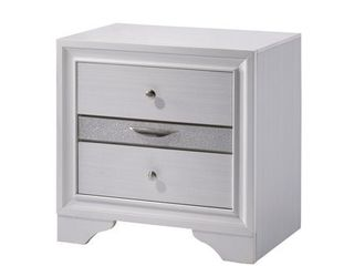 Furniture of America Relo Contemporary White Solid Wood Nightstand Retail:$186.81