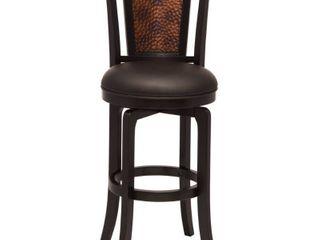 Norwood Swivel 26 5  Counter Stool Wood Black   Hillsdale Furniture