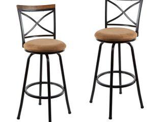 Set of 2 Frankie Adjustable Swivel Bar Stools Retail 118 87