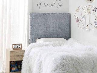 University Transitional Cushioned Dorm Headboard   Chunky Bunny   NAVY BlUE