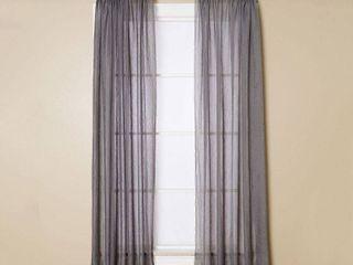 Miller Curtains Sheer Preston Rod Pocket 51  x 95  Panel