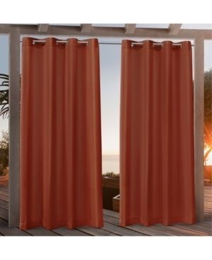 84 x54  Canvas Grommet Top light Filtering Window Curtain Panels Orange   Nicole Miller