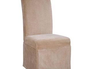 Powell Guinevere Tan Chenille Skirted Slip Over Slipcover  pack 1  Fits 741 440 Chair  Chair not i