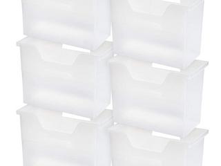 Desktop File Boxes  6pcs   Clear  B2