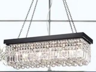 Carina 5 light Crystals CHandeliers Black  B2