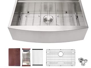 logmey 33inch Stainless Steel Kitchen Sink Workstation  B3