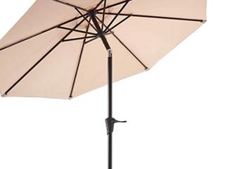 9ft Patio Umbrella Tilt and Crank  Beige  C1