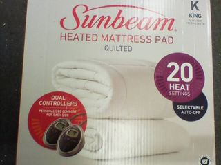 Sunbeam Quilted Heated Mattress Pad King  C1
