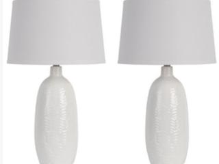 Sabrina Scale Ceramic Table lamp  Set of 2   C1