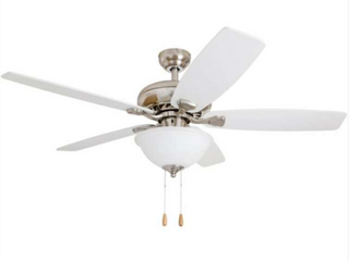 Porch and Den Elam White Maple Reversible Blade Ceiling Fan  C2