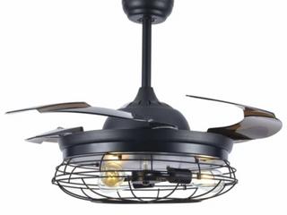 Carbon loft Startoni 42 inch Modern Industrial Cage Ceiling Fan  C3