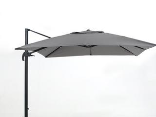 Gray 9ft Square Cantilever Umbrella  l