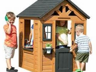 Backyard Discovery Sweetwater Cedar Wooden Playhouse  D1