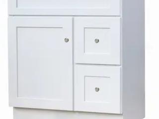 White 30inx21in shaker Bathroom Vanity  D1